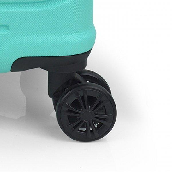 Gabol Ego Cabin Trolley 55 turquoise Harde Koffer van ABS