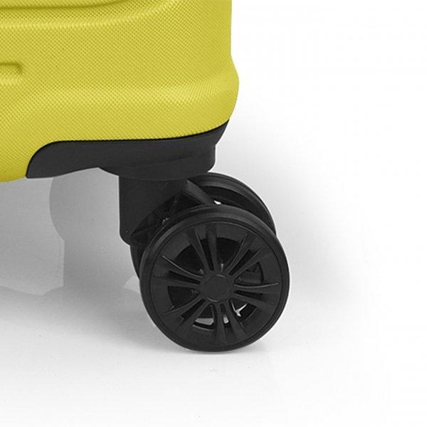 Gabol Ego Medium Trolley 66 lime Harde Koffer van ABS