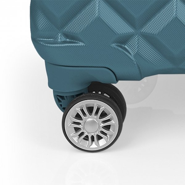 Gabol Oporto Medium Trolley 67 turquoise Harde Koffer van ABS