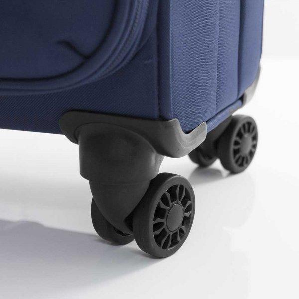 Gabol Zambia Trolley Large 79 blue Zachte koffer van Polyester
