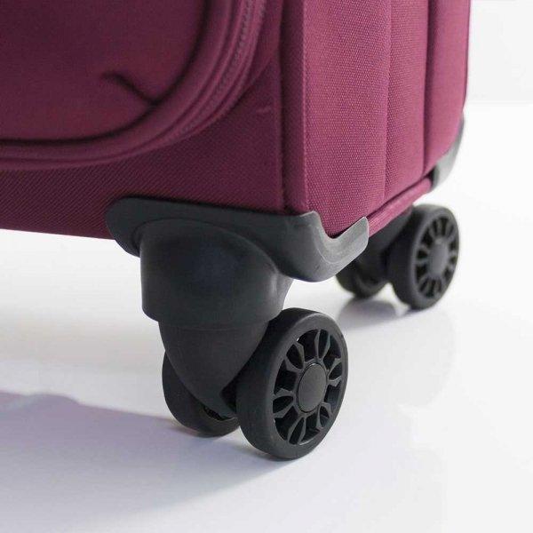 Gabol Zambia Trolley Medium 69 burgundy Zachte koffer van Polyester
