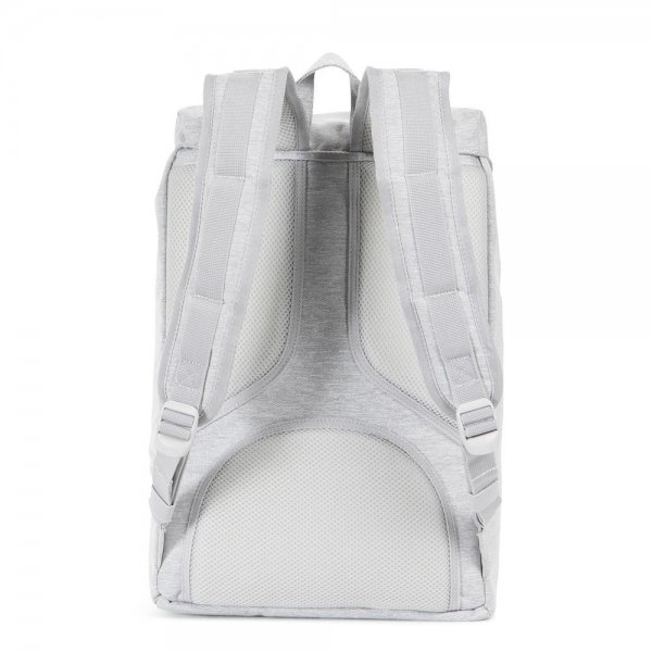 Herschel Supply Co. Little America Mid-Volume Rugzak light grey crosshatch/grey rubber backpack van Polyester