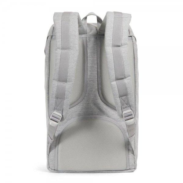 Herschel Supply Co. Little America Rugzak light grey crosshatch/grey rubber backpack van Polyester