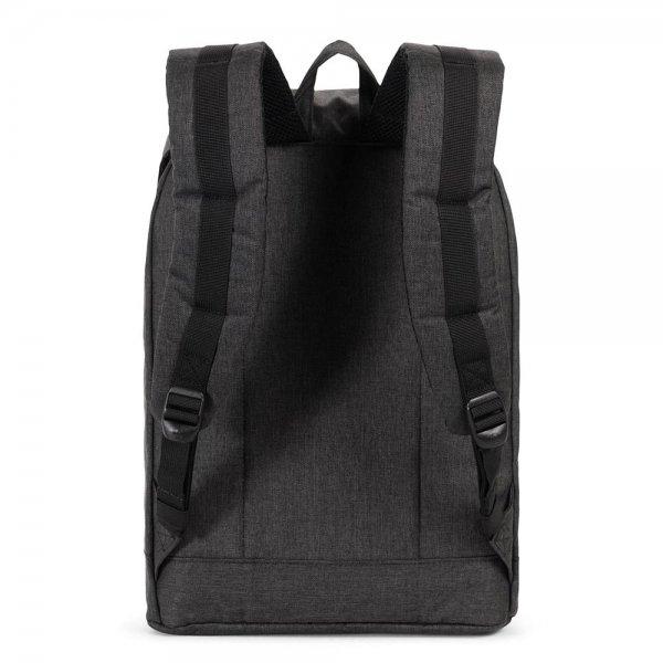 Herschel Supply Co. Retreat Rugzak black crosshatch/black rubber backpack van Katoen