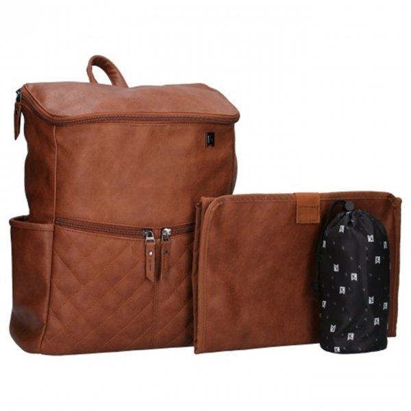 Kidzroom Go Out Diaper Backpack brown Damestas van Polyester