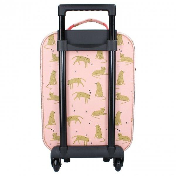 Kidzroom Trolley Koffer Cuddle pink Kinderkoffer van Polyester