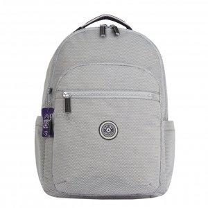 Kipling Seoul Rugzak B IT UN grey ripstop backpack
