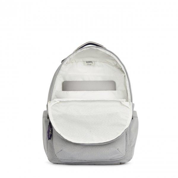 Kipling Seoul Rugzak B IT UN grey ripstop backpack van Nylon