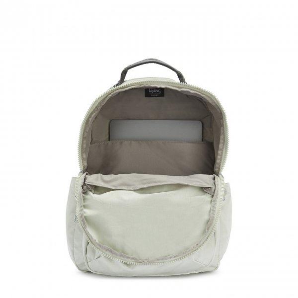 Kipling Seoul Rugzak BP RG dynamic silver backpack van Nylon