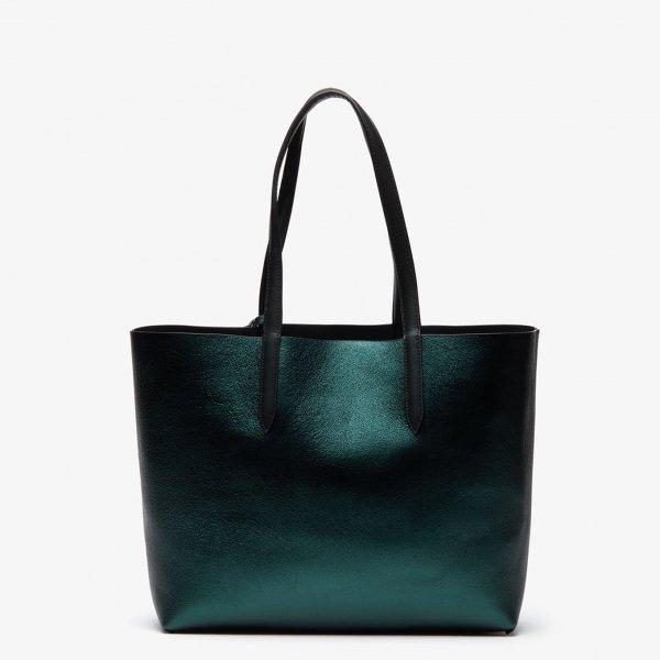 Lacoste Ladies Shopping Bag black Damestas van Leer