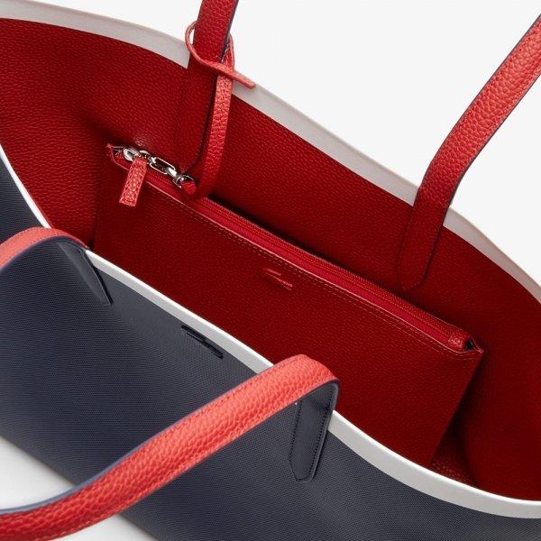 Lacoste Ladies Shopping Bag peacoat / pompeian red / mars Damestas van PVC