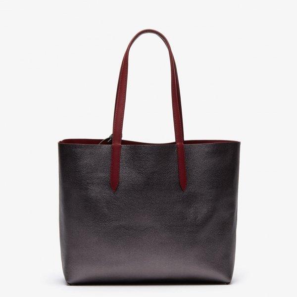Lacoste Ladies Shopping Bag rhubarb Damestas van Leer