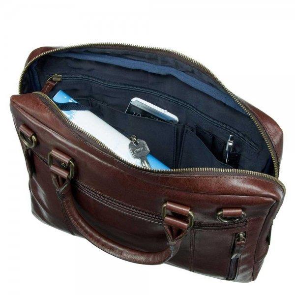Leonhard Heyden Cambridge 1 Compartment Briefcase S medium brown van Leer