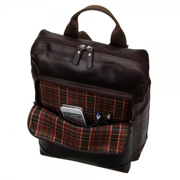 Leonhard Heyden Dakota Backpack brown backpack van Leer