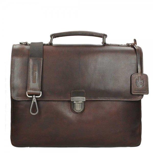 Leonhard Heyden Roma Briefcase 2 Compartments brown