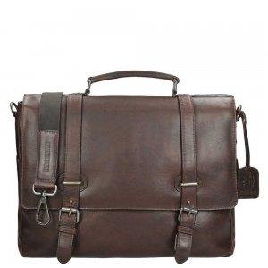 Leonhard Heyden Roma Briefcase 2 Compartments dark brown