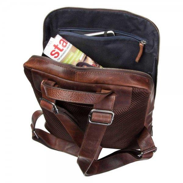 Leonhard Heyden Roma Business Backpack black backpack van Leer
