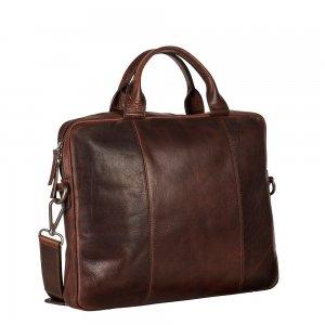 Leonhard Heyden Roma Slim Zipped Briefcase 1 Compartment brown