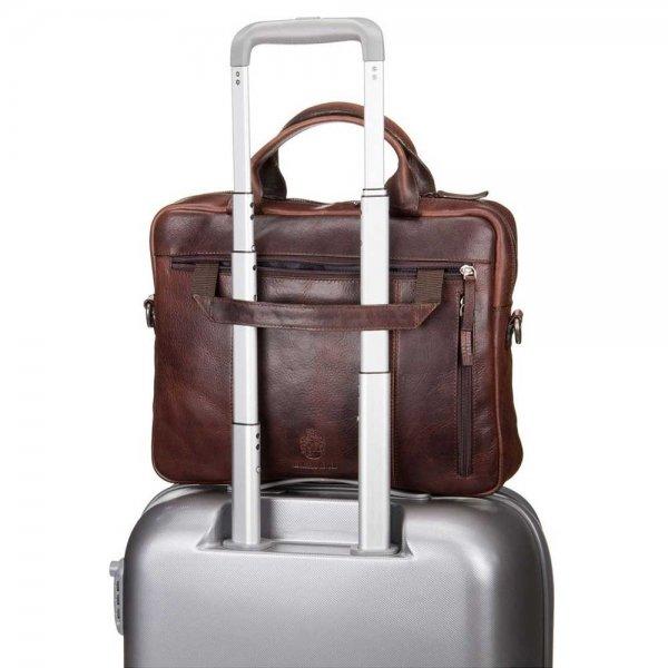 Leonhard Heyden Roma Tote Bag 1 Compartment brown van Leer