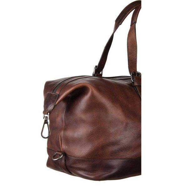 Leonhard Heyden Roma Travel Bag dark brown Weekendtas van Leer