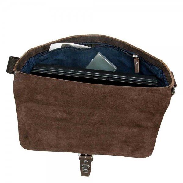 Leonhard Heyden Salisbury Messenger Bag M brown van Leer