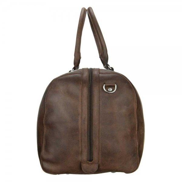 Leonhard Heyden Salisbury Travel Bag brown Weekendtas van Leer