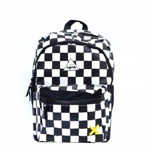 Little Legends Checkerboard Backpack L zwart/wit Kindertas