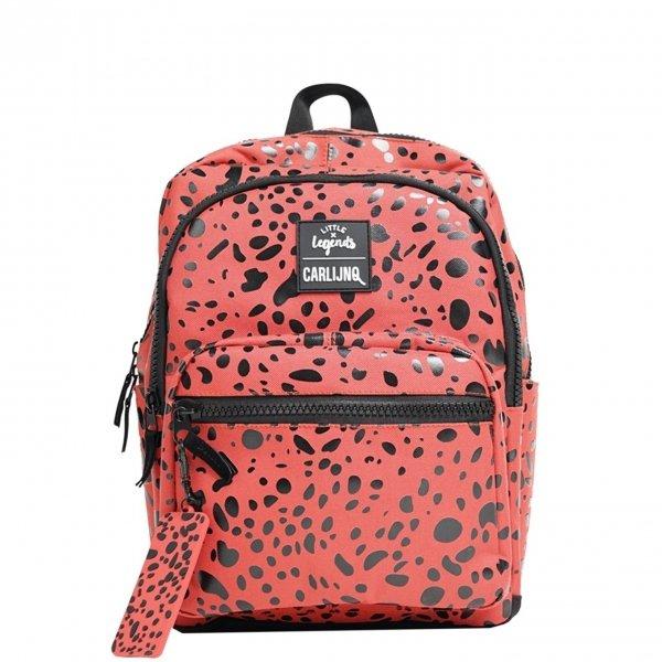 Little Legends x CarlijnQ Spotted Animal Backpack roestbruin/rood Kindertas
