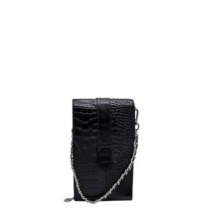 MOSZ Phone Bag Croco black Damestas