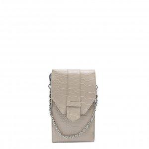 MOSZ Phone Bag Croco taupe Damestas