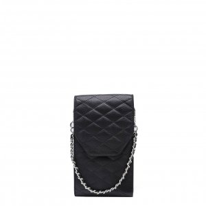 MOSZ Phone Bag Quilted black Damestas