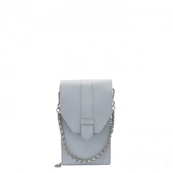 MOSZ Phone Bag Saffiano grey-light Damestas