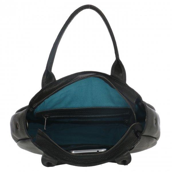 Micmacbags Cote d'Azur Handtas zwart Leren tas van Leer
