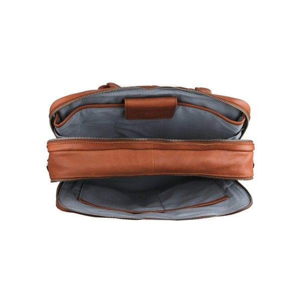 MyK. Focus Bag 15'' caramel van Leer