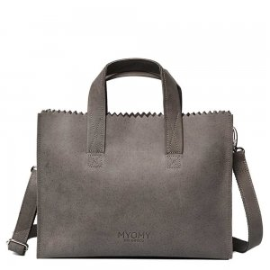 Myomy Paper Bag Handbag Crossbody taupe