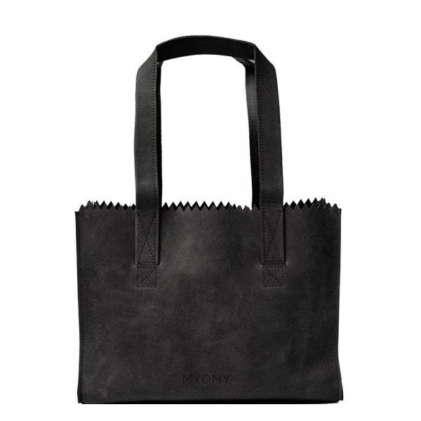 Myomy Paper Bag Handbag off black Damestas