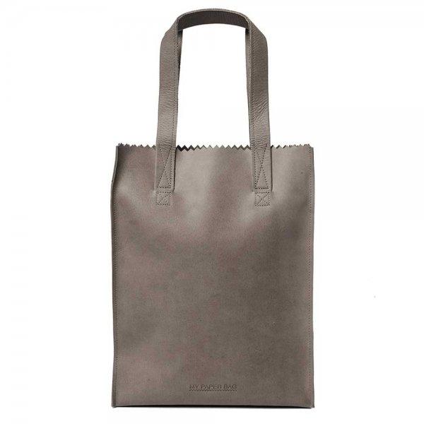 Myomy Paper Bag Long Handle Zip taupe Damestas
