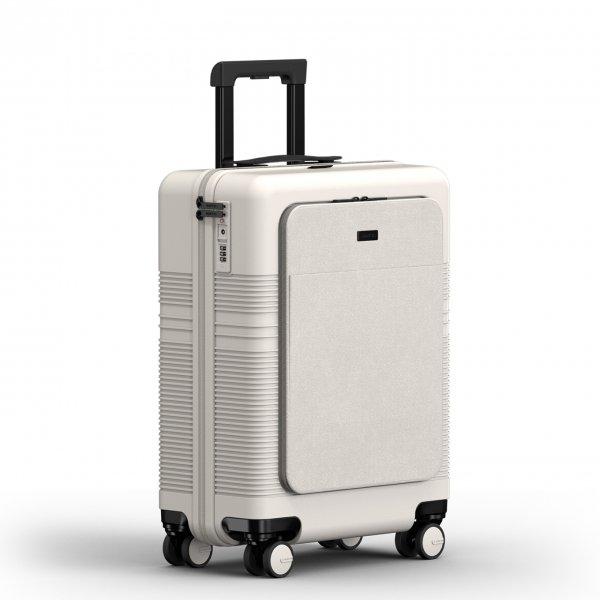 NORTVI Front Pocket 39 L sand white Harde Koffer van Polycarbonaat