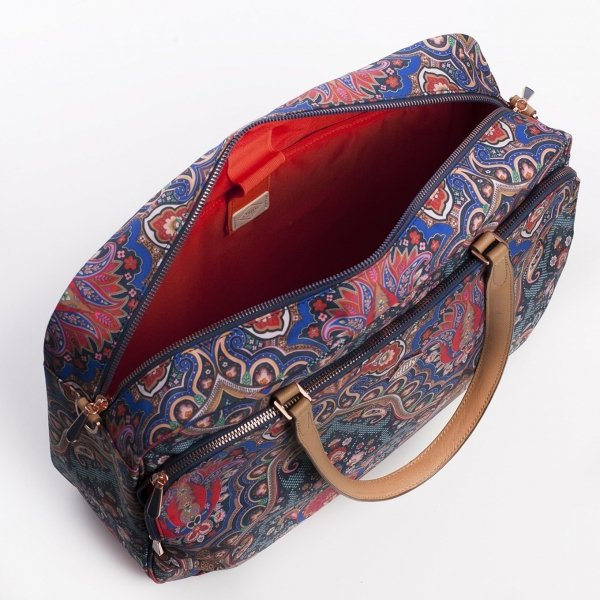 Oilily Paisley Office Bag royal blue Aktetas van Polyester