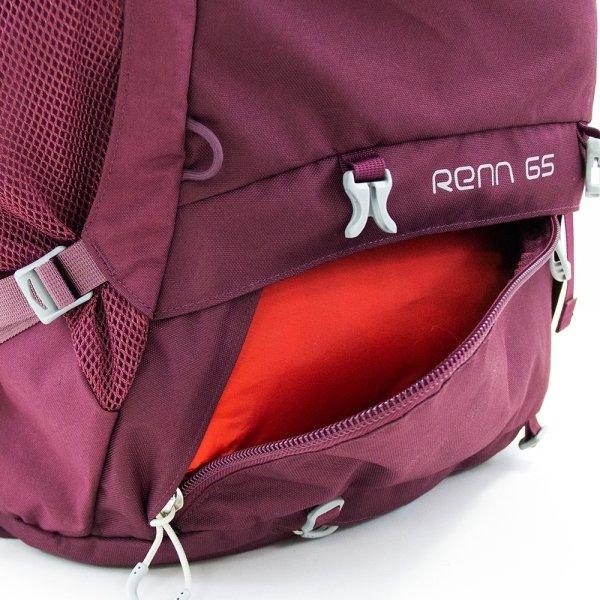 Osprey Renn 65 Women's Backpack aurora purple backpack van Polyester
