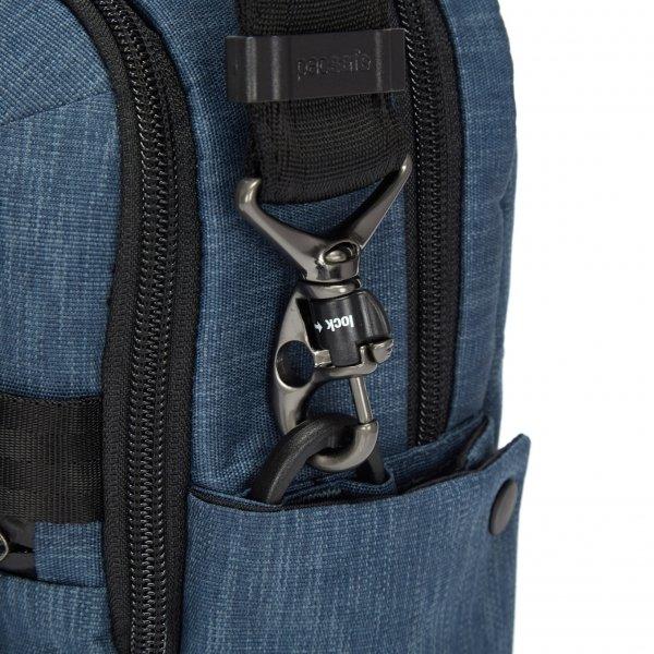 Pacsafe Metrosafe X Anti-Theft Vertical Crossbody dark denim Herentas van Polyester