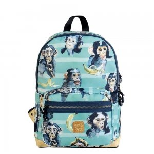 Pick & Pack Cute Chimpanze Backpack M blue green Laptoprugzak