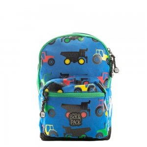 Pick & Pack Cute Tractor Backpack S blue multi Kindertas