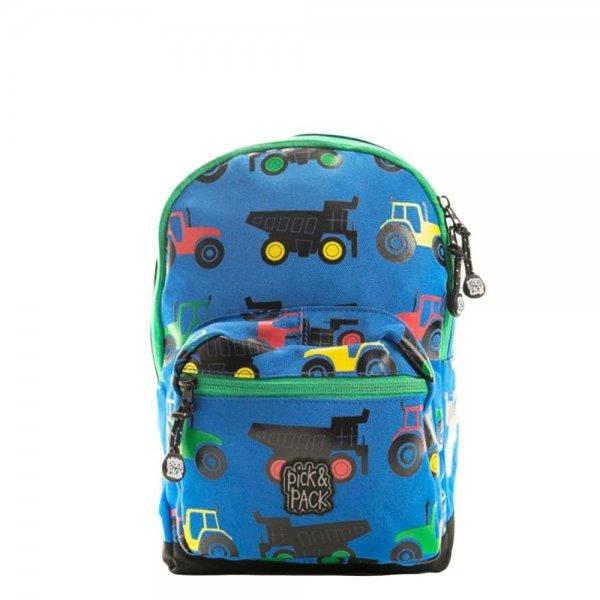 Pick & Pack Cute Tractor Backpack S blue multi Kindertas