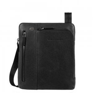 Piquadro Black Square Crossbody Bag black