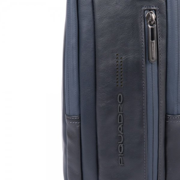 Piquadro Urban PC and iPad backpack with anti-theft cable blue backpack van