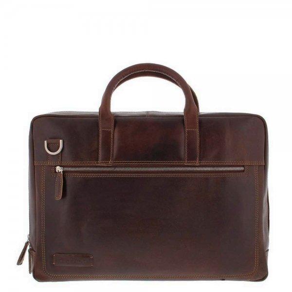 "Plevier Vintage London Laptoptas 2 vaks 15.6"" dark brown"