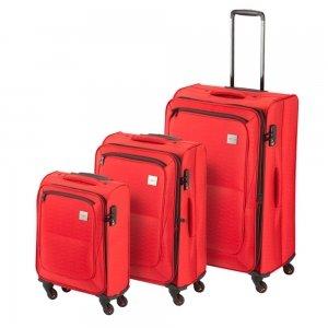Princess Traveller Colombo 3 Delige Kofferset red