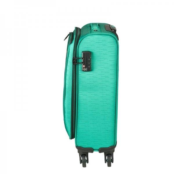 Princess Traveller Colombo 4 Wiel Cabin Trolley S green Zachte koffer van Polyester