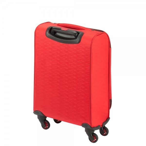 Princess Traveller Colombo 4 Wiel Cabin Trolley S red Zachte koffer van Polyester